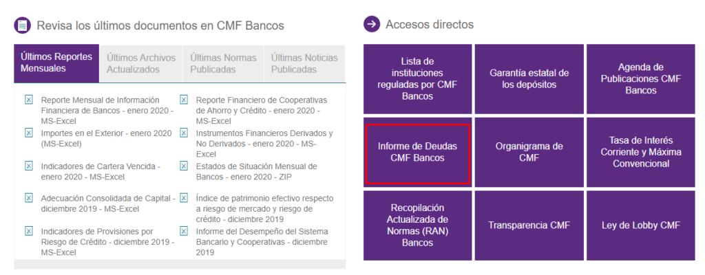 Cómo obtener certificado de deudas en SBIF