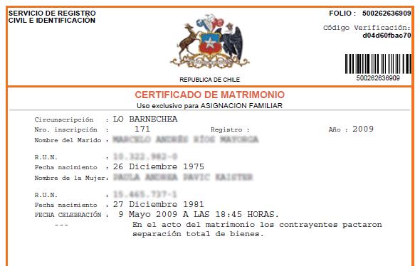 Cómo obtener el certificado de matrimonio gratis