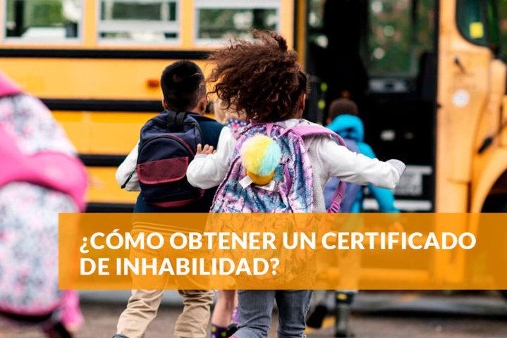 Cómo obtener un certificado de inhabilidad