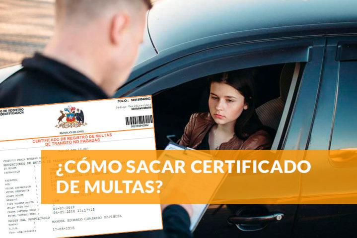Cómo sacar certificado de multas