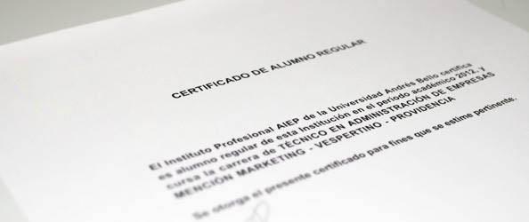 Cómo se puede obtener este certificado de alumno regular