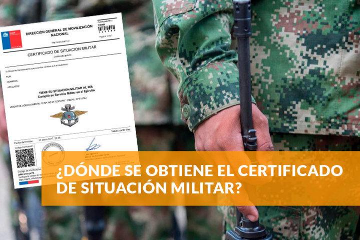 Dónde se obtiene el certificado de situación militar