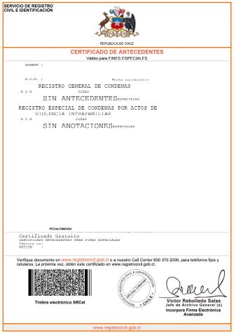 Qué es el certificado de antecedentes para fines particulares