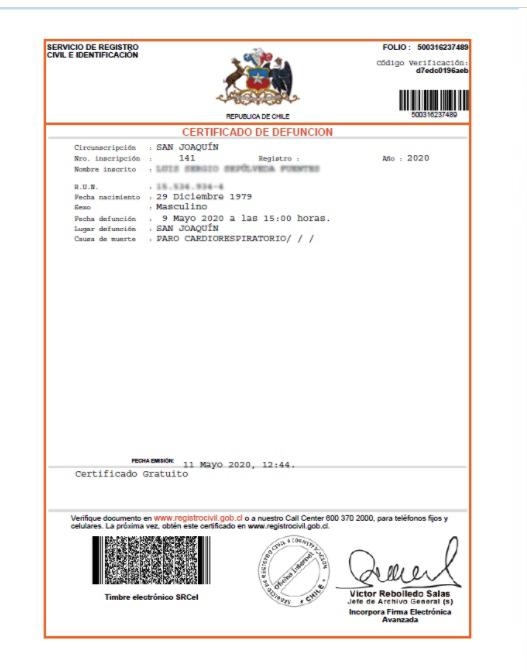 Qué es el certificado de defunción