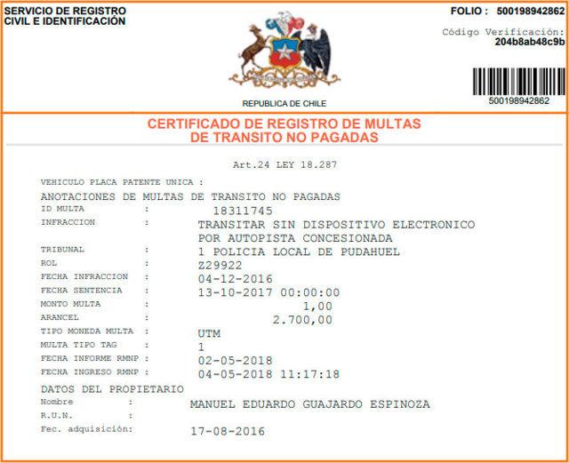 Qué es el certificado de multas