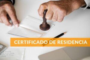 certificado de residencia online