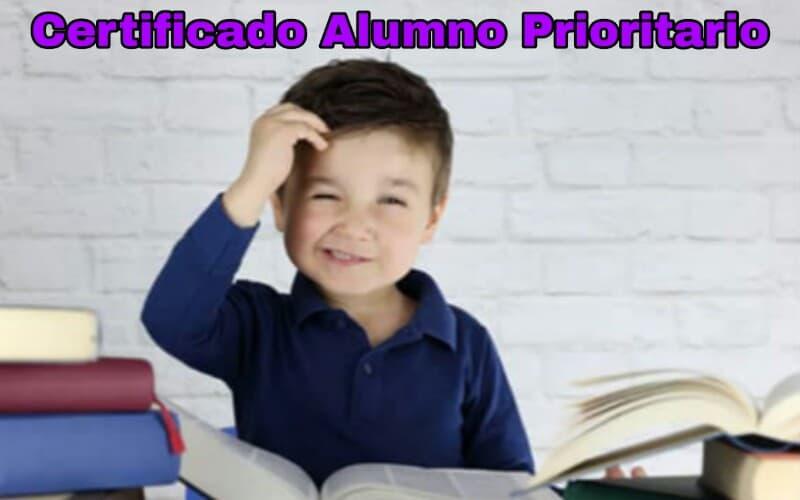 Certificado de alumno prioritario 2020