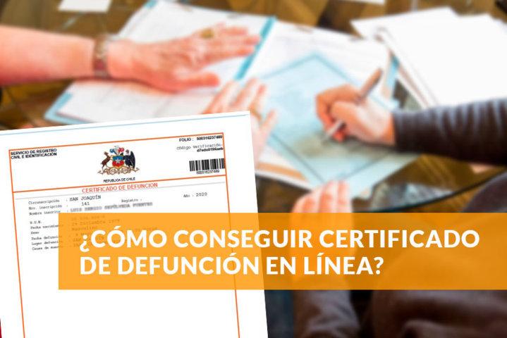 cómo conseguir certificado de defunción en línea